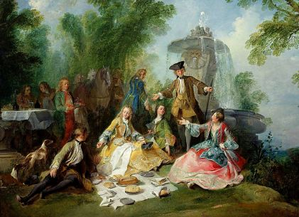 18th century hunting party